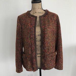 Chico's Metallic Tweed Blazer Coat Size 2